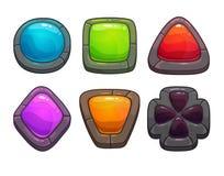 Комплект камней шаржа красочных бесплатная иллюстрация
