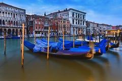 Комплект канала гондол Венеции Стоковое Фото