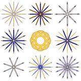 Комплект канцелярских принадлежностей круговых картин Стоковые Фотографии RF