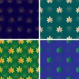 Комплект картины вектора безшовной с листьями Стоковое Изображение