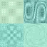 Комплект картины вектора искажения квадратов шахматной доски безшовный 4 внутри иллюстрация штока