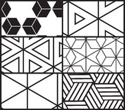 Комплект картины всеобщего вектора геометрической безшовной Стоковое Фото