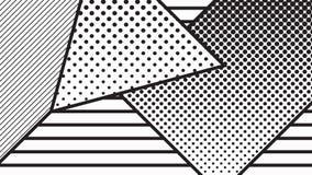 комплект картины искусства шипучки тенденции геометрический Стоковое Изображение RF