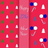 Комплект картины рождества и Нового Года безшовный, иллюстрация вектора Стоковые Фото