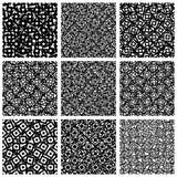 Комплект картины 9 с случайными, скачками формами иллюстрация вектора