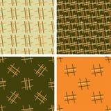 Комплект картины 4 цветов геометрической безшовной с линейным орнаментом иллюстрация вектора
