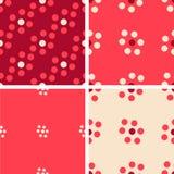 Комплект картины 4 цветов геометрической безшовной с кругами Бесплатная Иллюстрация