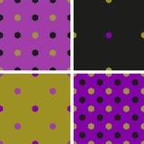 Комплект картины 4 цветов геометрической безшовной с формой шестиугольника бесплатная иллюстрация
