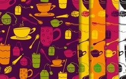 Комплект картины чашки Стоковая Фотография