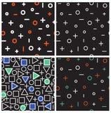 Комплект картин всеобщей моды вектора геометрических безшовных Стоковое Фото
