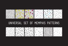 Комплект картин всеобщей моды вектора геометрических безшовных Стоковые Фото