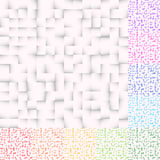Комплект картин мозаики в несколько красит Квадраты делают по образцу, придают квадратную форму бесплатная иллюстрация