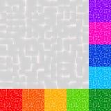 Комплект картин мозаики в несколько красит Квадраты делают по образцу, придают квадратную форму иллюстрация вектора