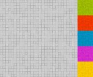 Комплект картин мозаики с случайными квадратами 5 красит + серая шкала бесплатная иллюстрация