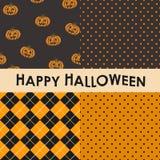 Комплект картин хеллоуина безшовных Стоковая Фотография RF