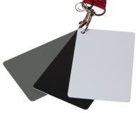 Комплект карточек баланса цифров белый черный серый Стоковая Фотография RF