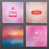 Комплект карточек весны бесплатная иллюстрация