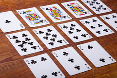 Комплект карточек все клубы Стоковые Изображения RF