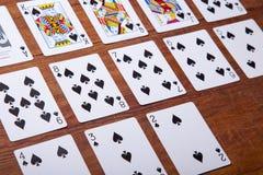Комплект карточек все лопаты Стоковые Изображения RF
