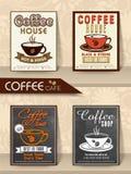 Комплект карточек или рогулек меню для кафа Стоковая Фотография