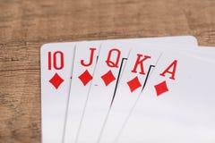 Комплект карточек костюма диамантов играя Стоковые Фотографии RF