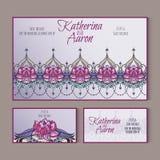 Комплект карточек свадьбы приглашения с местом для текста Стоковое фото RF