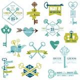 Комплект карточек свадьбы Стоковые Фотографии RF