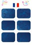 Комплект карточек чемпионата Европы бесплатная иллюстрация