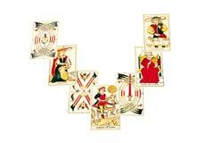 Комплект карточек Tarot вне в распространении затмения Стоковое Фото