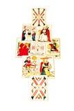 Комплект карточек Tarot вне в распространении мандалы Стоковая Фотография