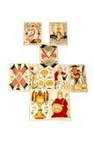 Комплект карточек Tarot вне в распространении отношения Стоковое фото RF