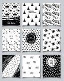 Комплект карточки зимы Стоковое Изображение
