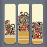 Комплект карточки Стоковое Изображение