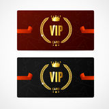 Комплект карточки VIP вектор Стоковое Изображение RF