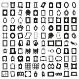 Комплект 100 кадров красивейший вектор Стоковые Изображения RF