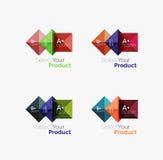 Комплект квадратных абстрактных шаблонов или infographics предпосылки Стоковое Изображение RF