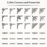 Комплект кельтских углов и рамок Стоковые Изображения