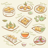 Комплект китайской еды. Стоковые Изображения