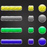 Комплект кнопки вебсайта Стоковое Фото