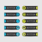 Комплект кнопки вебсайта бесплатная иллюстрация