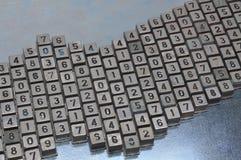 Комплект кнопки номера шкалы для телефона Стоковое Изображение