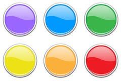 комплект кнопки покрашенный Стоковая Фотография RF