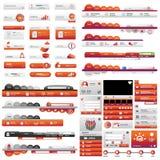 Комплект кнопки пользовательского интерфейса мира Стоковые Фото