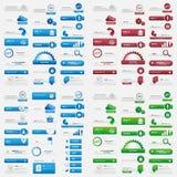 Комплект кнопки сети потребителя большой Стоковые Изображения RF
