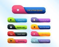 Комплект кнопки сети иллюстрация штока
