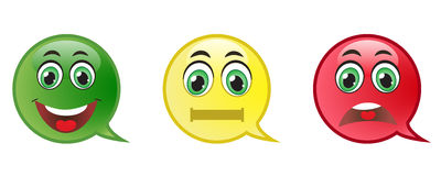 Комплект кнопки Smiley Стоковые Изображения RF