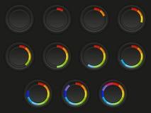 Комплект кнопок загрузки иллюстрация вектора
