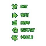 Комплект кнопок меню, иллюстрация Стоковые Изображения
