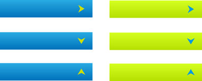 Комплект 6 кнопок сети Стоковая Фотография RF