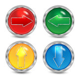 Комплект кнопок с стрелками Иллюстрация вектора